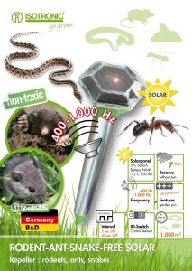 Isotronic Solar Snake Ant Mole Mouse Repeller, Animal Expeller