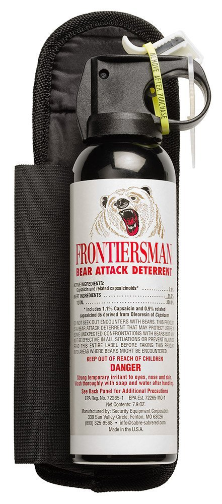 Bear Protection With Frontiersman Bear Spray: Sabre Frontiersman Bear Repellent Spray